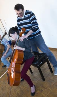 spalle violoncello